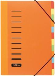 Durable sorteermap A4 12 gekleurde tabs, oranje