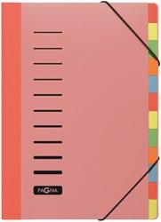 Durable sorteermap A4                                    gekleurde tabs, rood