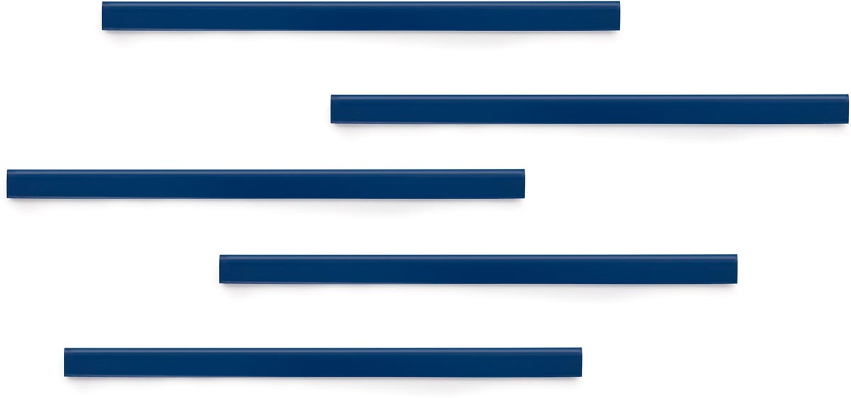 Durable Durafix zelfklevende magneetstrook, 297 mm, pak van 5 stuks, donkerblauw