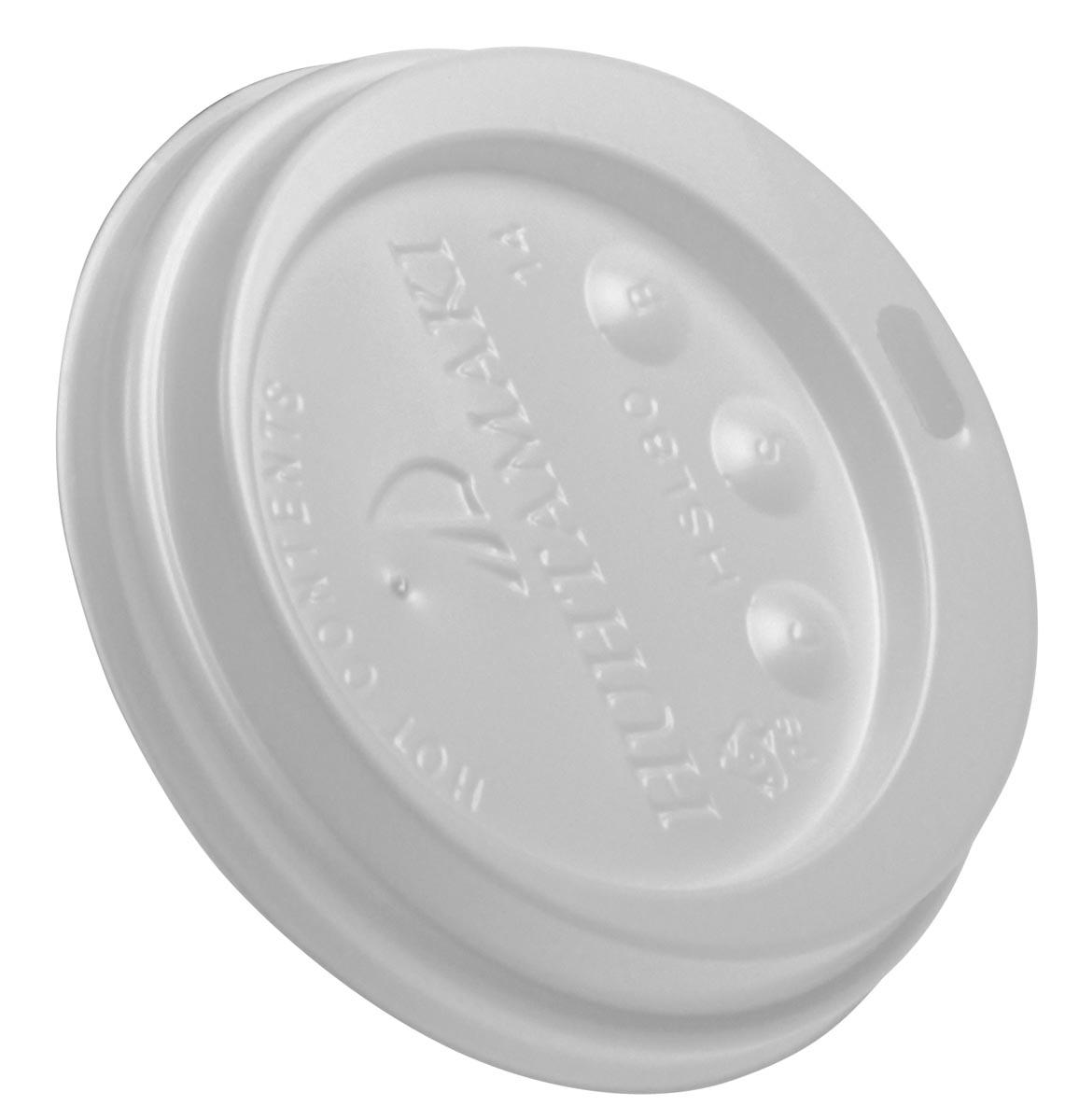 Deksel Coffee To Go, wit, diameter 80 mm, pak van 100 stuks