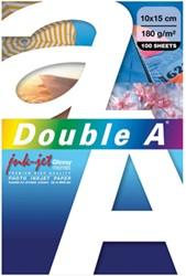 Double A fotopapier ft 10 x 15 cm, 180 g, pak van 100 vel