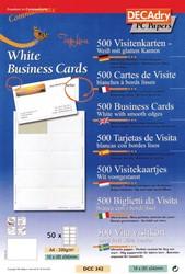 Decadry Cartes De Visite TopLine 500 10 Ft 85 X 54 Mm