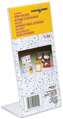 Deflecto Folderhouder L-voet ft 1/3 A4
