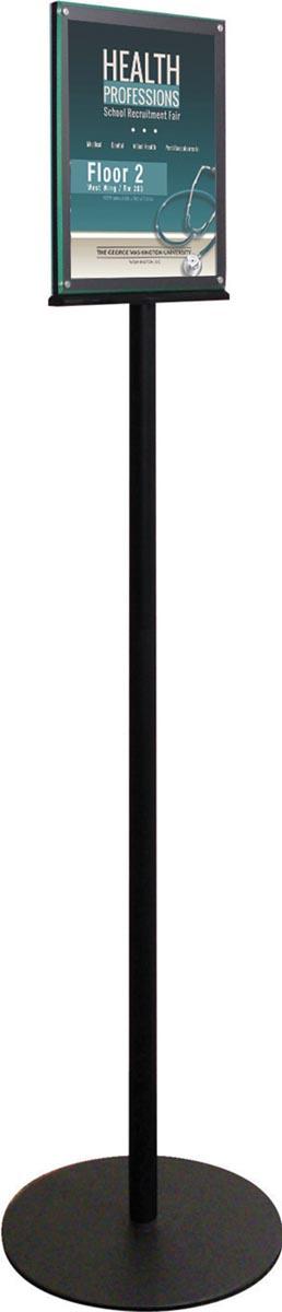 Deflecto dubbelzijdige magnetische vloerstandaard, voor ft A4
