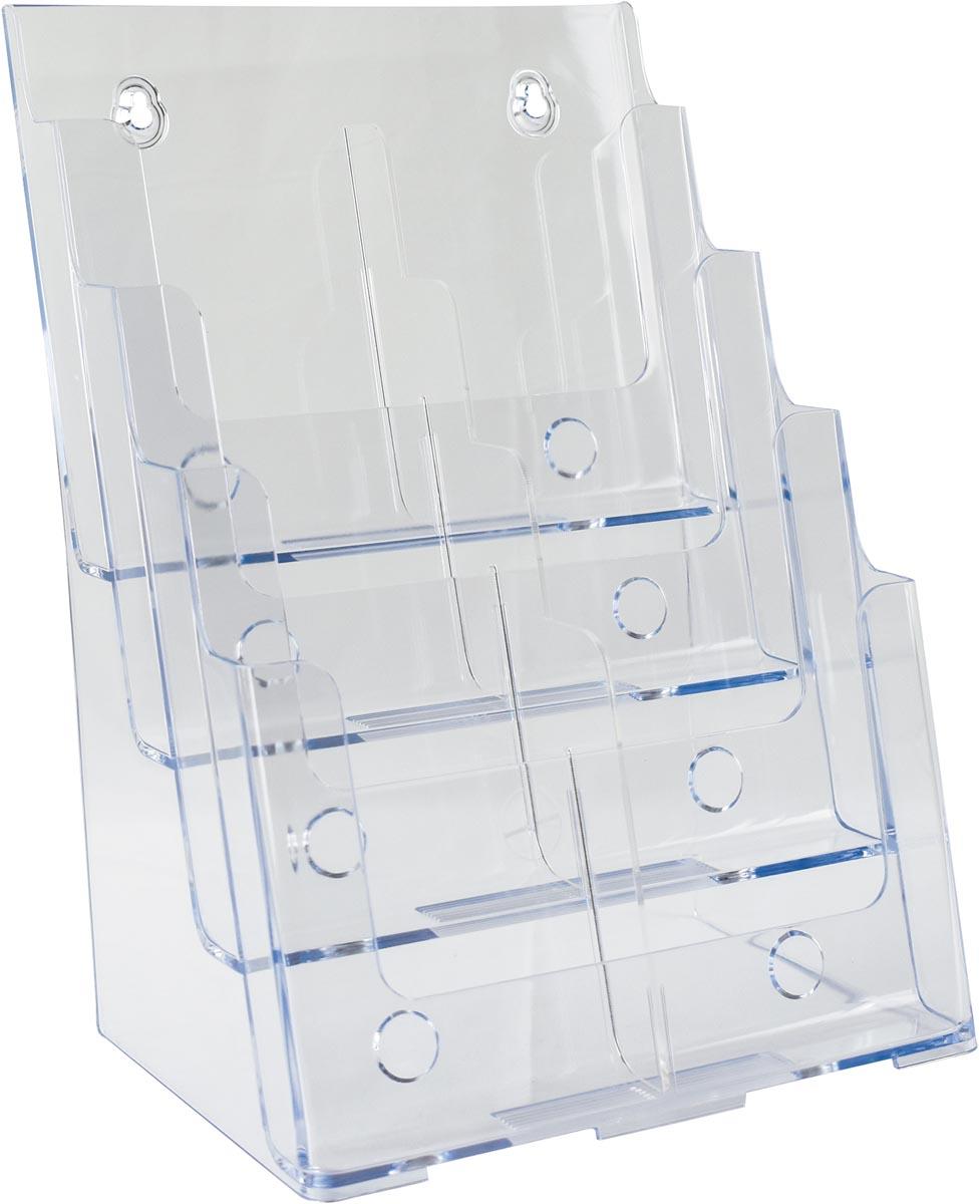 Deflecto folderhouder ft 1/3 A4, 2 x 4 opbergvakken