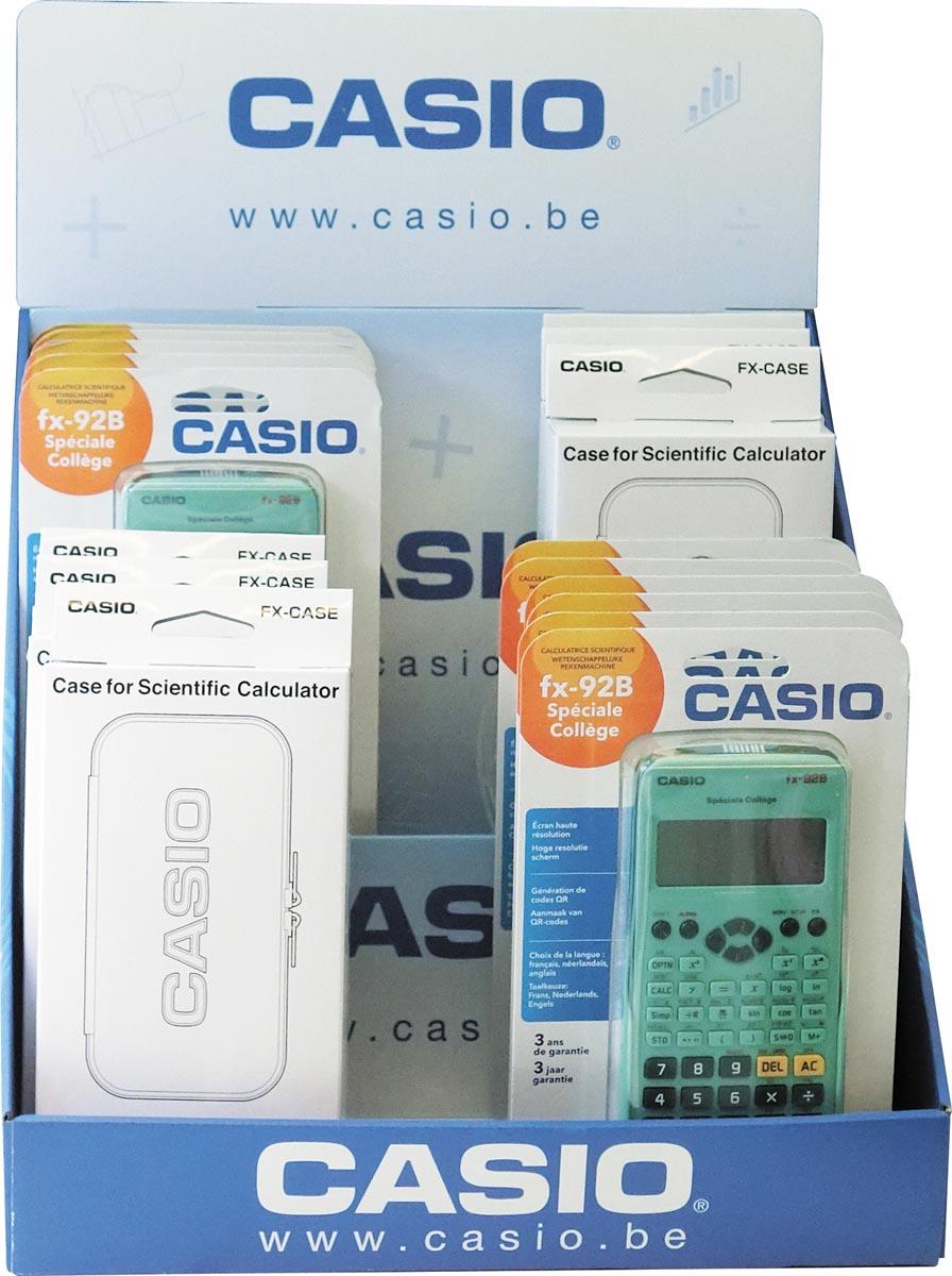 Casio wetenschappelijke rekenmachine FX92B Special College, display van 11 stuks en 6 beschermetuis