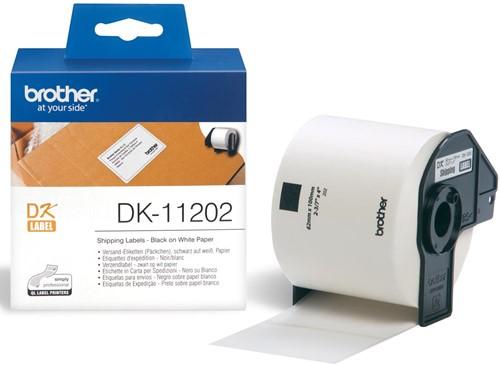 Brother etiketten voor QL, ft 62 x 100 mm, pak van 300 etiketten