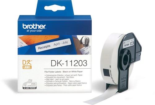 Brother etiketten voor QL, ft 17 x 87 mm, pak van 300 etiketten