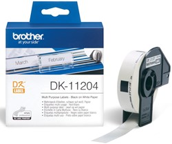 Brother etiketten voor QL, ft 17 x 54 mm, pak van 400 etiketten