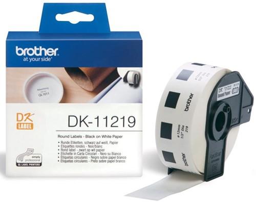 Brother etiketten voor QL, ft 12 x 12 mm, pak van 1200 etiketten