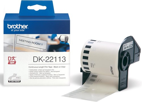 Brother doorlopende labelrol voor QL, ft 62 mm x 15,24 m, plastic film, transparant