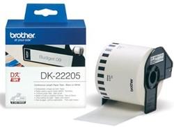 Brother tape voor QL 62 mm, witte papiertape