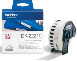 Brother tape voor QL 29 mm, witte papiertape