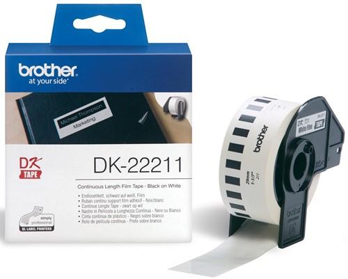Brother doorlopende labelrol voor QL, ft 29 mm x 15,24 m, plastic film