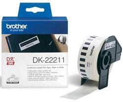 Brother tape voor QL 29 mm, witte filmtape