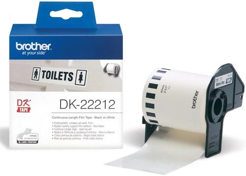 Brother doorlopende labelrol voor QL, ft 62 mm x 15,24 m, plastic film