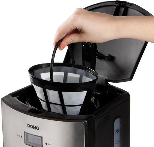 Domo koffiezetapparaat met timer en permanente filter 1,2 liter, inox-2