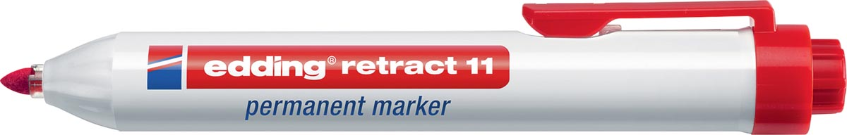 Edding permanent marker Retract 11 rood