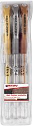 Edding gelroller 2185/3 etui 3 stuks, geassorteerde kleuren: goud, zilver en brons