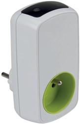 Perel contactdoos met timer, wit, voor België