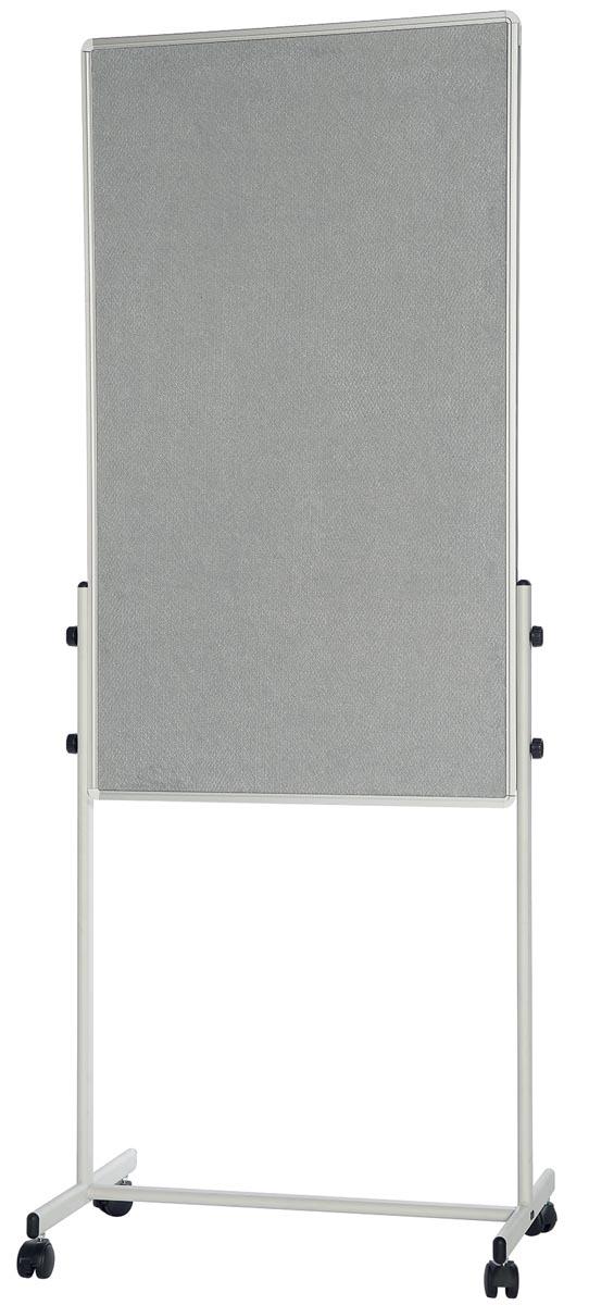 Bi-Office mobiel duobord ft 120 x 70 cm
