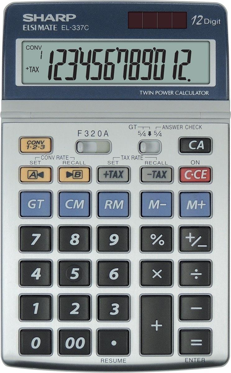 Sharp bureaurekenmachine EL-337C