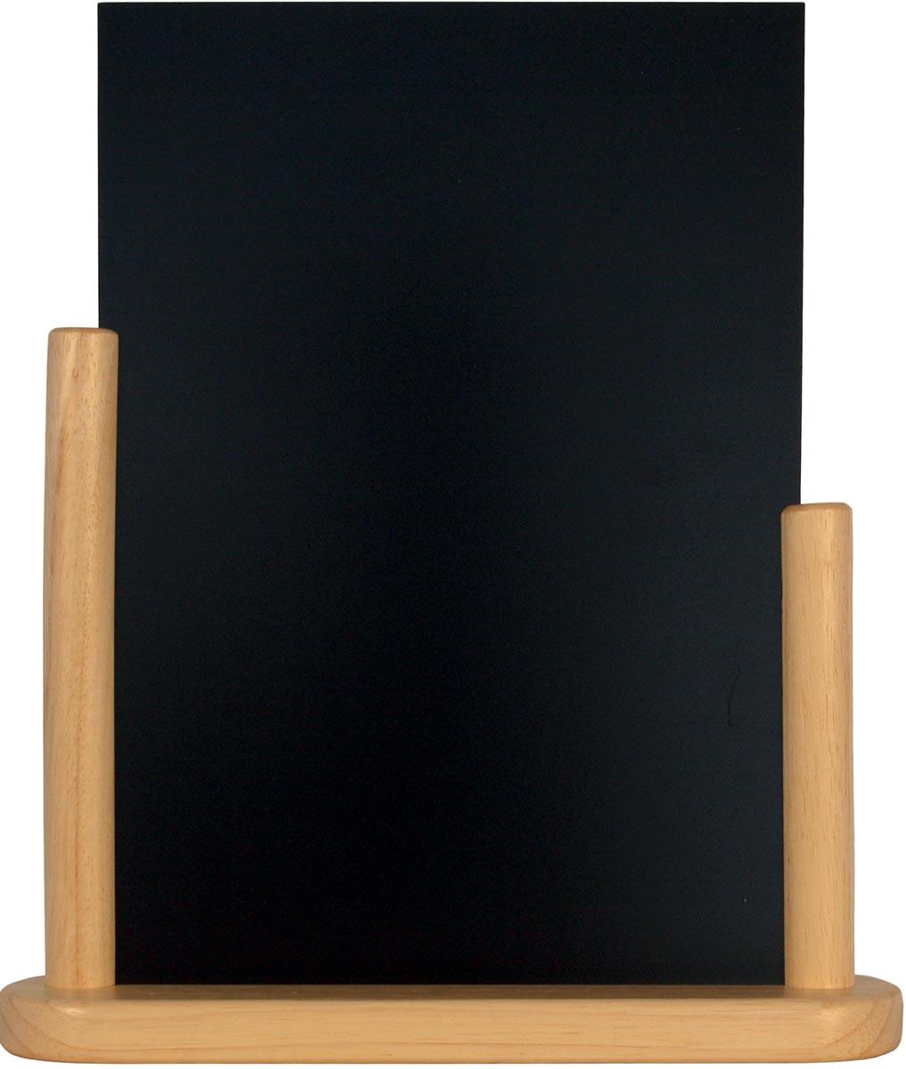 Securit tafelkrijtbord Elegant berk ft 32 x 28 cm