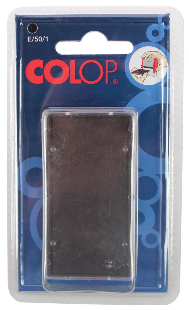 Colop stempelkussen zwart, voor stempel P50, blister van 2 stuks