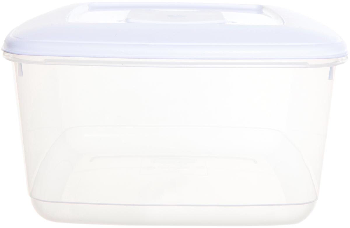 Whitefurze vershouddoos vierkant 10 liter, transparant met wit deksel