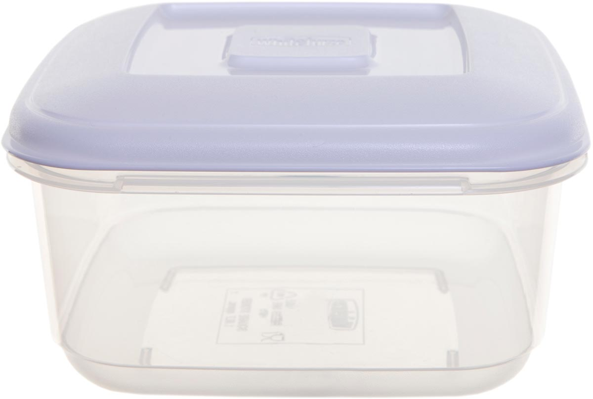 Whitefurze vershouddoos vierkant 0,6 liter, transparant met wit deksel