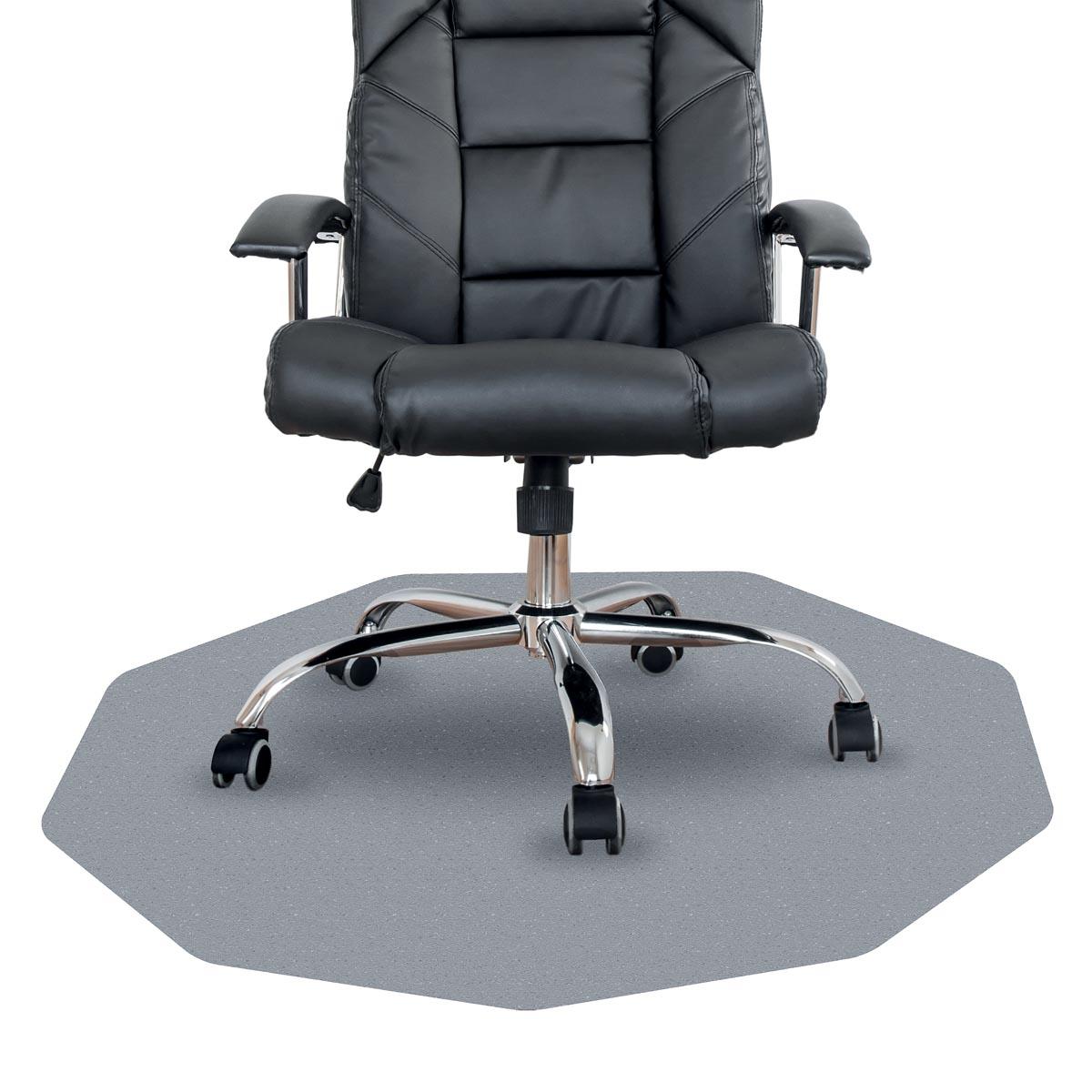 Cleartex vloermat Chairmat, 9-hoek, voor harde en solide oppervlakken, ft 98 x 98 cm