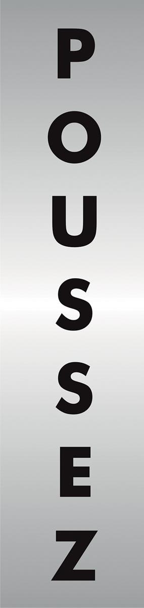 Stewart Superior zelfklevend pictogram poussez