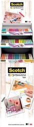 Scotch Expressions glitter tape en washi tape, display met 180 stuks in geassorteerde kleuren