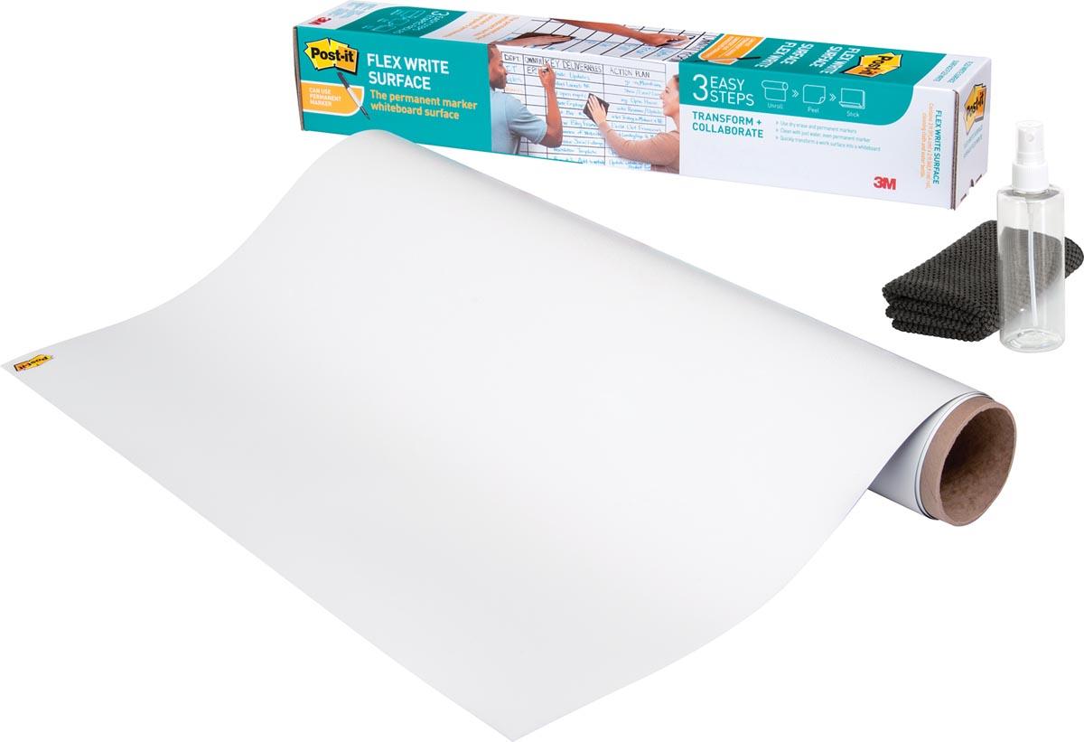 Post-It Flex Write whiteboardfolie op rol, ft 121,9 x 243,8 cm
