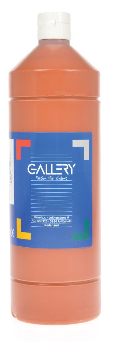 Gallery plakkaatverf, flacon van 1 l, lichtbruin