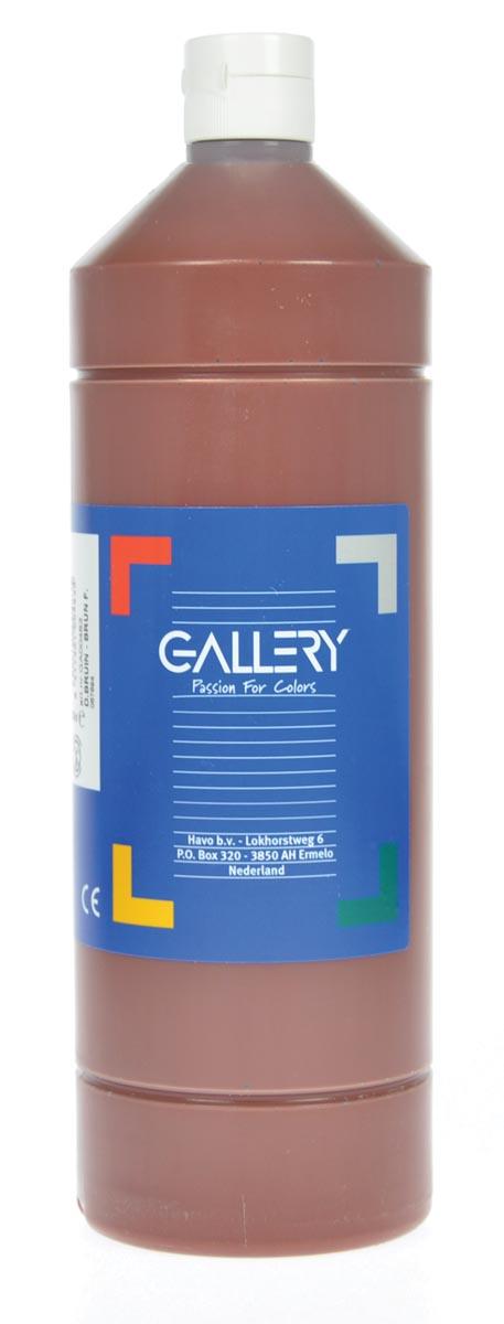 Gallery plakkaatverf, flacon van 1 l, donkerbruin