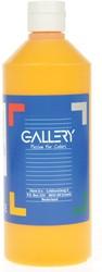 Gallery plakkaatverf, flacon van 500 ml, donkergeel