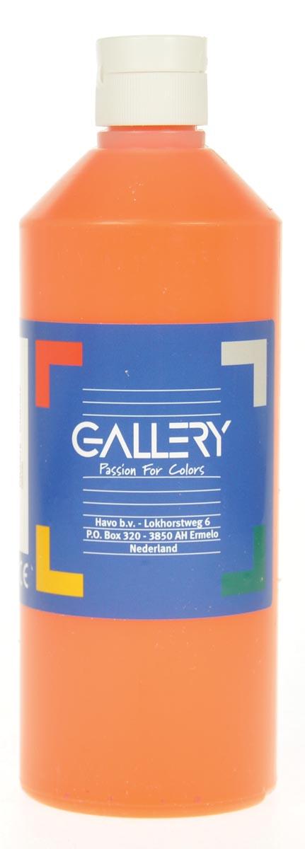 Gallery plakkaatverf, flacon van 500 ml, oranje
