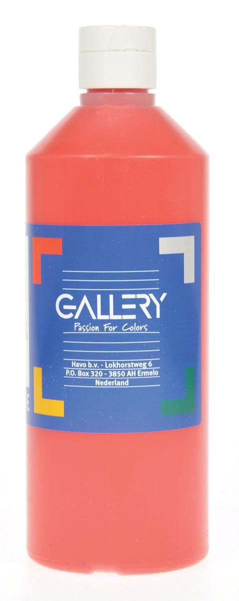 Gallery plakkaatverf, flacon van 500 ml, lichtrood