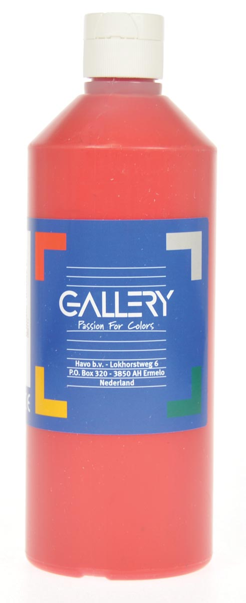Gallery plakkaatverf, flacon van 500 ml, donkerrood
