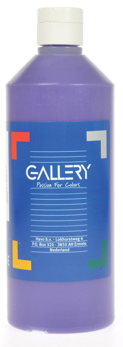 Gallery plakkaatverf, flacon van 500 ml, paars