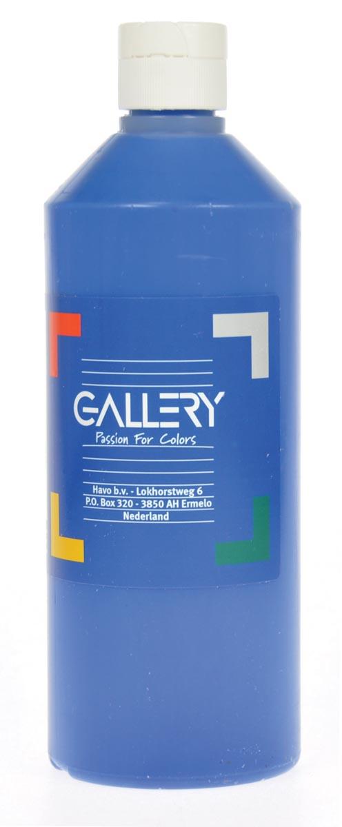 Gallery plakkaatverf, flacon van 500 ml, donkerblauw