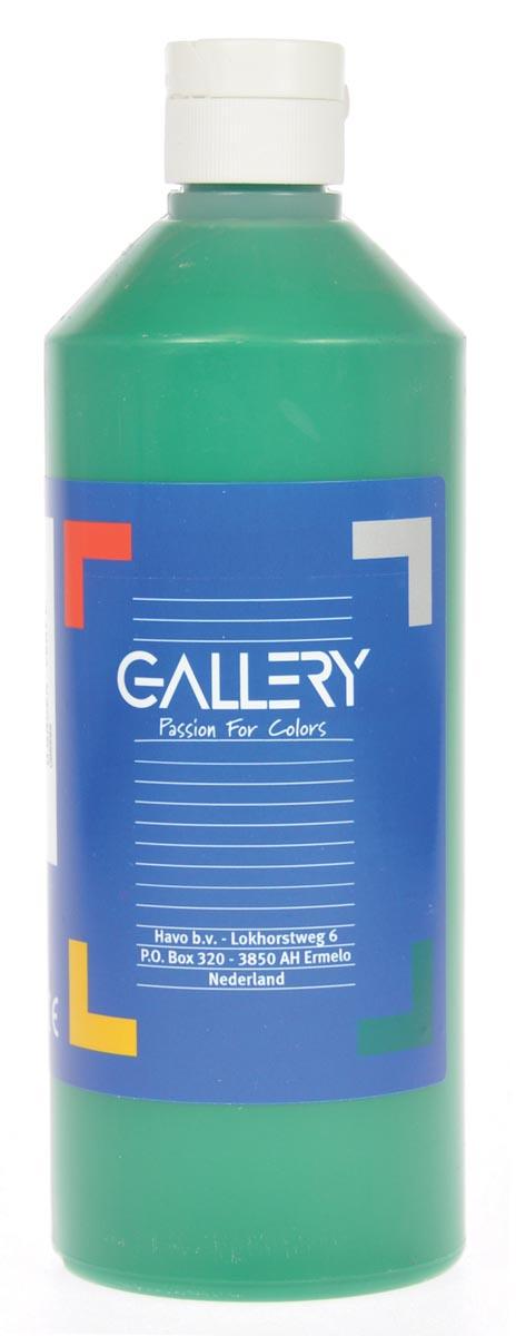 Gallery plakkaatverf, flacon van 500 ml, donkergroen