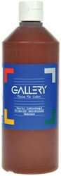 Gallery plakkaatverf, flacon van 500 ml, donkerbruin