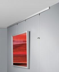 Sigel schilderijrail set gallery, zilver