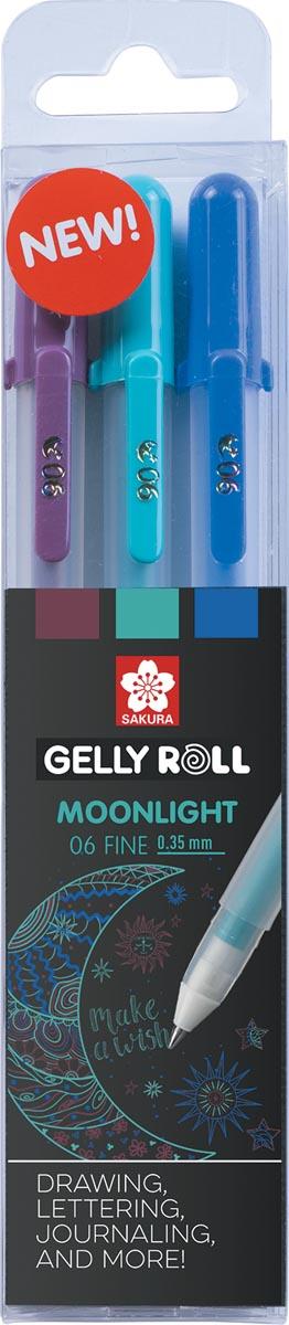 Sakura roller Gelly Roll Moonlight, etui van 3 stuks Galaxy