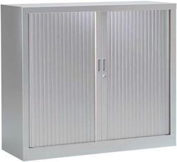 Roldeurkast, hoogte 136 cm, aluminium
