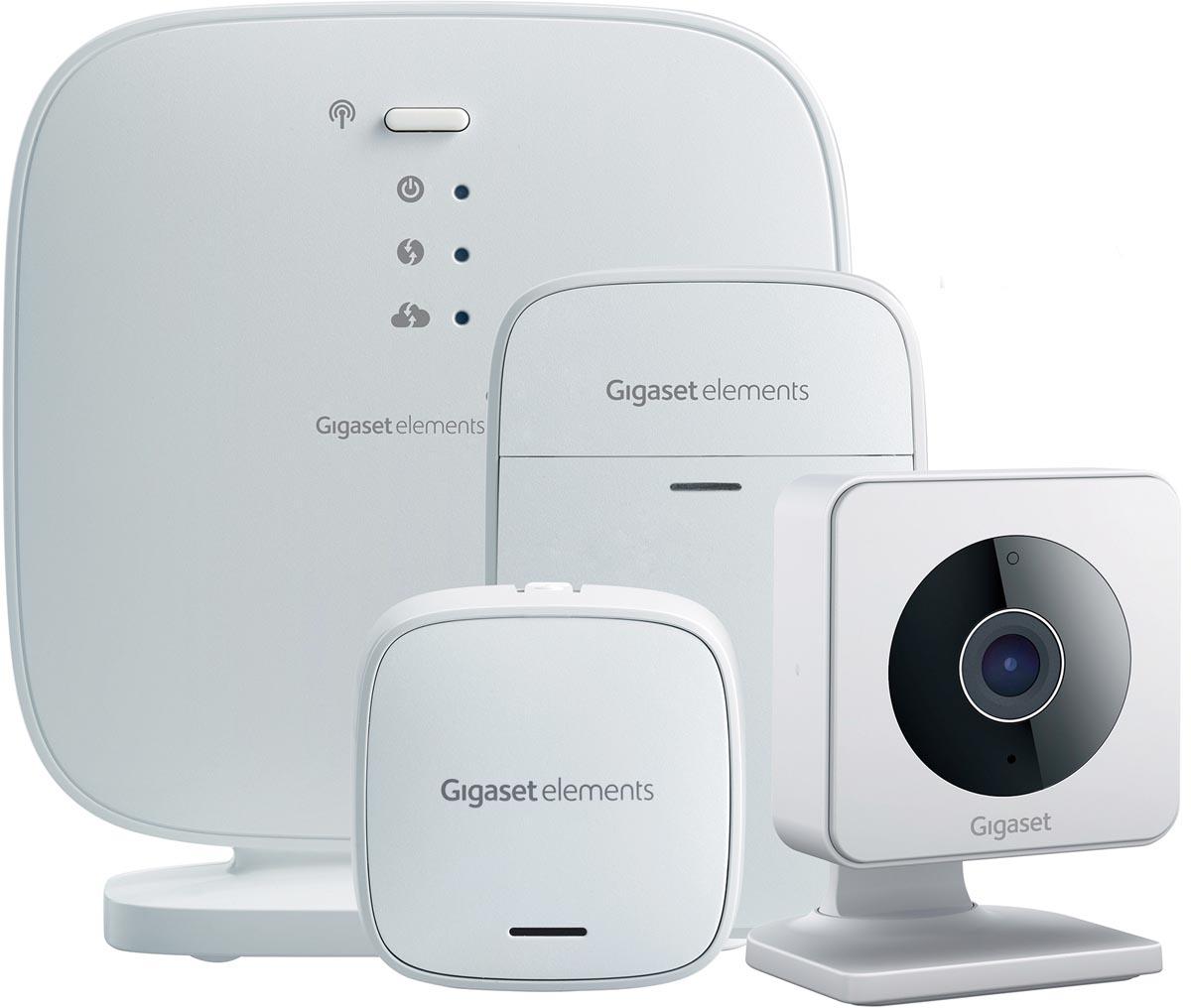 Gigaset all you need beveiligingspakket met deur-raamsensor, bewegingssensor en WLAN indoor smartcam