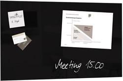Sigel magnetisch glasbord zwart, ft 78 x 48 cm