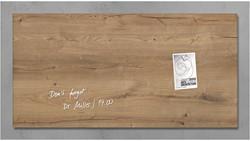 Sigel magnetisch glasbord houtstructuur, ft 91 x 46 cm